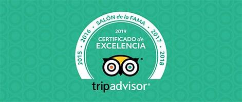 Trip Advisor certificado de excelencia